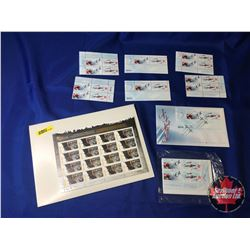 Canadian Forces Snowbirds Canada Postage Stamps & BC 150 Years Stamps