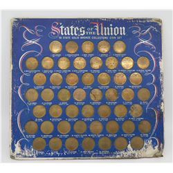 States of the Union 50 State Solid Bronze Collectors' Coin Set