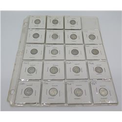 Qty 19: 1916-1920's Liberty Dimes, etc in Plastic Protector