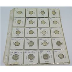 Qty 20: 1920's-1980's D Liberty Dimes, etc in Plastic Protector