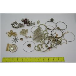 Misc Bangle Bracelets, Brooches, Bead Neck Chains, Watch, etc