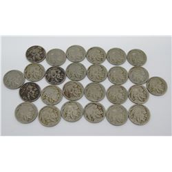 Qty 26 Liberty Indian Head Buffalo Nickels - Various Years