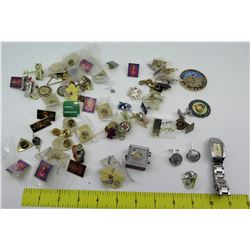 Misc. Memorabilia Pins, Cuff Links, Watch, etc.