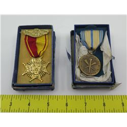 Qty 2 Military Service Medals in Boxes: Hawaii National Guard & Armed Forces