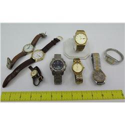 Qty 8 Watches: Oscar de la Renta, Tissot, Seiko, Osirock, Timex, etc