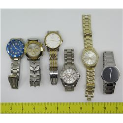 Qty 6 Watches: Bulova, Unlisted, Movado, etc.