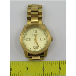 Nixon Gold-Tone Watch w/ Metal Band