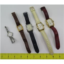 Qty 5 Watches:  3 Invicta, Vicence & Seiko