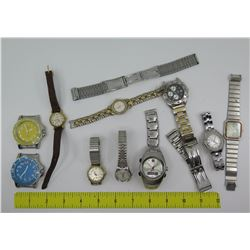 Qty 10 Watches: Bulova, Seiko, Fossil, Anne Klein, Quiksilver, etc