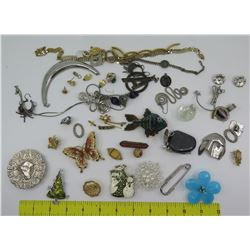 Misc Jewelry: Brooches, Bracelets, Earrings, Chains, Rings, etc