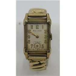 Bulova 10K Gold Filled Watch w/ Flex Band