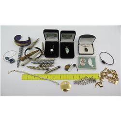 Misc Jewelry: Monopoly Charm Bracelet, Bracelets, Bangles, Semi Precious Stone Pendants, etc