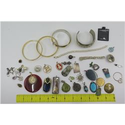 Bangle Bracelets, Link Bracelet & Pendants: Semi-Precious Stones, Black Pearl, etc