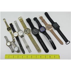 Qty 10 Watches: Lugano, Seiko, iTouch, Casio, Lace Design (Japan), etc.
