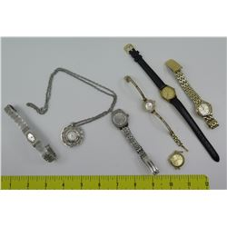 Qty 7 Watches: Waltham, Bulova, Abiste, Seiko, Pendant Watch, etc