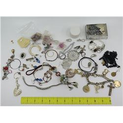 Misc Jewelry: Charm Bracelets, Rings, Earrings, Brooches, etc