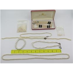 Misc Pearl Necklaces: H.F. Wichman Hawaii 3-Strand, etc.