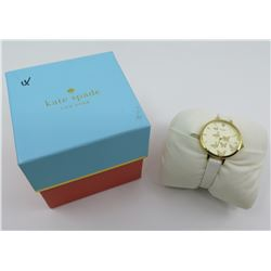 Kate Spade 'Butterflies' Watch w/ Leather Band, Includes Box