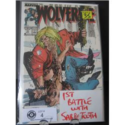 Marvel Comics Wolverine 1st Battle With Sabre Tooth #10