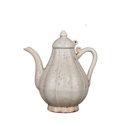 A DING WHITE PEONY TEAPOT MING DYNASTY.