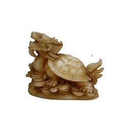 A NATURAL WHITE JADE TURTLE STATUE QING DYNASTY.