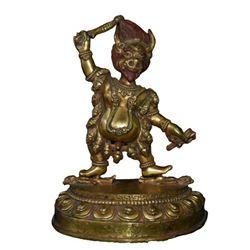A GILT BRONZE YAMANTAKA BUDDHA FIGURE QING DYNASTY.