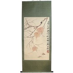 A INK AND COLOR PAINTING QI BAISHI MARK.