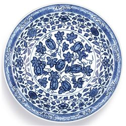 [FROM SOTHEBY'S] A BLUE AND WHITE PLATE YONGZHENG MARK.