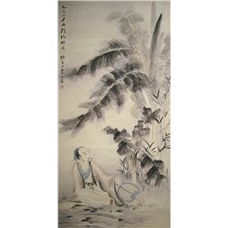 A INK AND COLOR PAINTING ZHANG DAQIAN MARK.