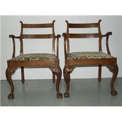 Colonial Jamaican Georgian Armchairs