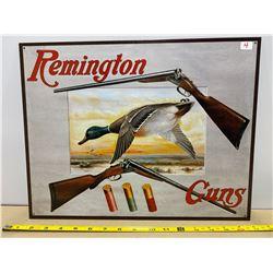 REMINGTON TIN SIGN - 12 X 16 IN