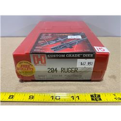 HORNADY .204 RUGER RELOADING DIE SET - AS NEW