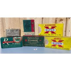 LOT OF 6 EMPTY COLLECTIBLE AMMO BOXES