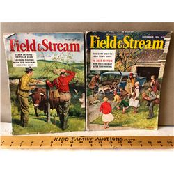 LOT OF 2 1956 ISSUES OF FIELD & STREAM