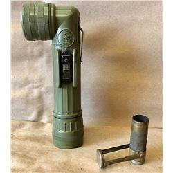 LOT OF 2, US ARMY FLASHLIGHT & MARBLES MATCH HOLDER