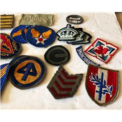 LOT OF MISC MILITARY BADGES