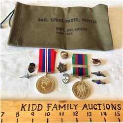 LOT OF MISC MILITARY COLLECTIBLES