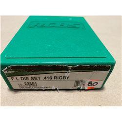 RCBS RELOADING DIE SET - .416 RIGBY - NEW
