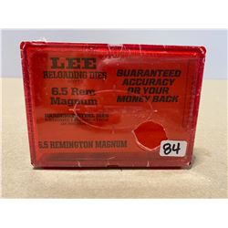 LEE RELOADING DIE SET - 6.5 REM MAG - NEW