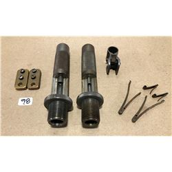 2 X VICKERMAN COMPETITION SEATING DIES. P 17 SIGHT. SxS SHOTGUN SPRINGS. BRASS SCOPE BASES.