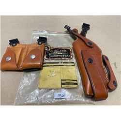 LOT OF 2 GALCO LEATHER HOILSTER & MAG HOLDER - AS NEW