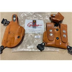 LOT OF 2 GALCO LEATHER HOLSTERS
