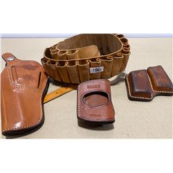 LOT OF 4 LEATHER HOLDERS