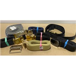LOT OF 8 MILITARY STYLE NYLON BELTS
