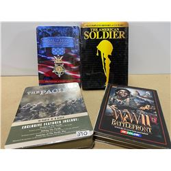 LOT OF 4 WWII DVD SETS - SOME AS NEW