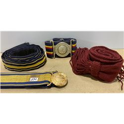 LOT OF 4 STABLE / DRESS BELTS