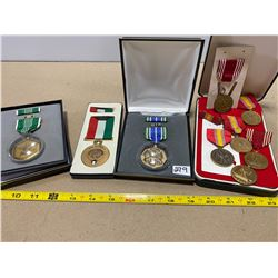 LOT OF 9 USA MEDALS
