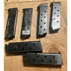 LOT OF 6 1911 .45 ACP MAGS