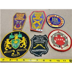 LOT OF 6 ONTARIO SHOOTING CLUB CRESTS