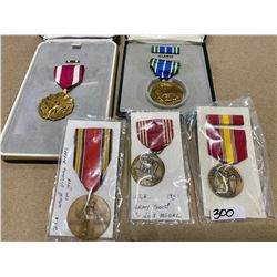LOT OF 5 USA MEDALS FOR CONDUCT, ACHIEVEMENT, MERIT, DEFENCE, VICTORY